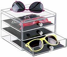 mDesign Storage Box for Eyeglasses - Practical