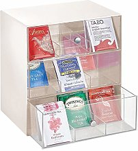 mDesign Storage Box for Teabags, Coffee Pods,