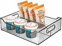 mDesign Storage Box with Handles – Fridge Box