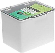 mDesign Storage Box with Hinged Lid – Plastic
