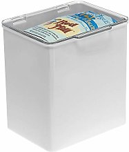 mDesign Storage Box with Lid for Kitchen, Bathroom