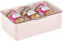 mDesign Storage Box with Lid for Kitchen, Pantry