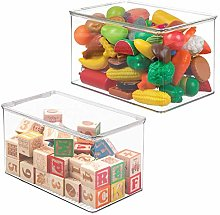 mDesign storage box with lid for the