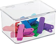 mDesign Storage Box with Lid – Lidded Storage