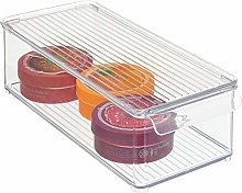 mDesign Storage Box with lid – Plastic Container