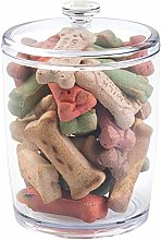 mDesign Tall Plastic Pet Storage Canister Jar with