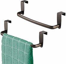 mDesign Tea Towel Holder – Set of 2 – Over