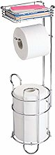 mDesign Toilet Paper Holder Without Drilling -