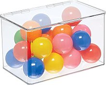mDesign Toy Storage – Storage Box with Lid for