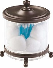 mDesign Traditional Bathroom Vanity Canister Jar