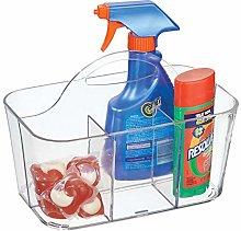 mDesign Transparent Storage Basket for Detergent,