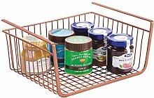 mDesign Under Shelf Basket – Large Wire Basket