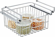 mDesign Under Shelf Basket – Shelf-Mounted