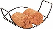 mDesign Wall Mount Tea Towel Holder for Bathroom -
