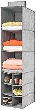 mDesign Wardrobe Organiser — Hanging Wardrobe