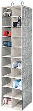 mDesign Wardrobe Organiser — Large Hanging Shoe