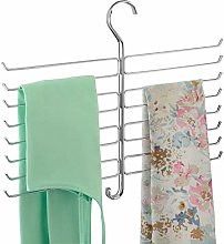 mDesign Wardrobe Organiser for Accessories, Ties,