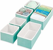 mDesign Wardrobe Storage Boxes – Fabric Storage
