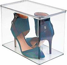 mDesign Wardrobe Storage Organiser Shoe Box, for
