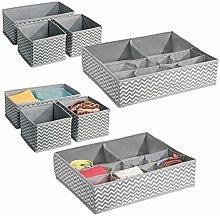 mDesign Wardrobe Storage Unit Accessory Set for