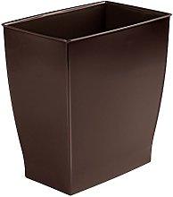 mDesign Wastebasket Bin for Bathroom, Kitchen,
