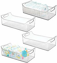 mDesign Wide Storage Organizer Container Bin with