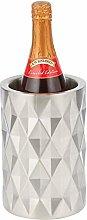 mDesign Wine Bucket — Diamond Pattern Wine and