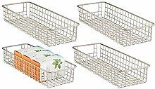 mDesign Wire Basket — Flexible Wire Storage