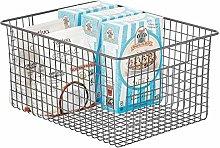 mDesign Wire Basket – Flexible Storage Basket