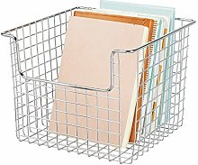 mDesign Wire Basket for Cupboards or Shelves –