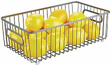 mDesign Wire Basket with Handles — All Purpose