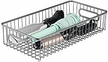 mDesign Wire Basket with Handles — Large Storage