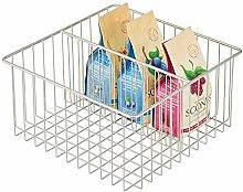 mDesign Wire Storage Basket — Metal Basket with