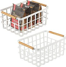 mDesign Wire Storage Basket — Wire Basket for
