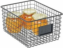 mDesign Wire Storage Basket — Wire Basket for