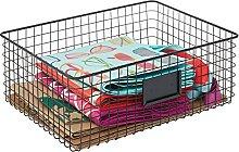 mDesign Wire Storage Basket — Wire Basket with