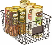 mDesign Wire Storage Basket — Wire Basket with