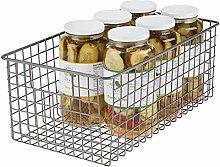 mDesign Wire Storage Basket – Compact Wire