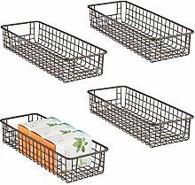 mDesign Wire Storage Basket for Kitchen, Pantry,