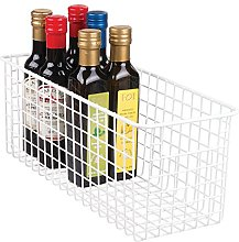 mDesign Wire Storage Baskets — Deep and Flexible