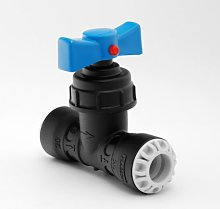 MDPE Pipe Fitting Push-Fit Stop Tap 20mm