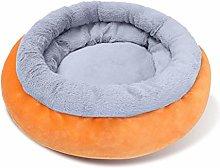 mdtep Winter Dog Bed Warm Round Plush Sofa House,