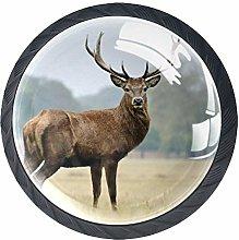 Meadow Elk Crystal Door Knobs Glass Furniture