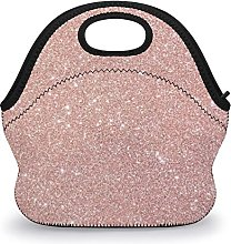 Meal Bag Rose Gold Glitter Adults Lunch Cooler