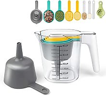 Measuring Jug and Measuring Spoon Set,10 Pcs ABS