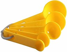 Measuring Spoon Sets Yellow Color Measuring Cups