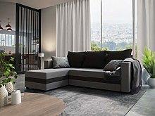 MebLiebe Corner Sofa Savio Couch With Sleeping