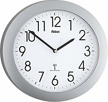 Mebus Mebus 52451 Wireless Wall Clock, Silver