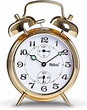 Mebus Wind Up Alarm Clock Metal Gold Normal