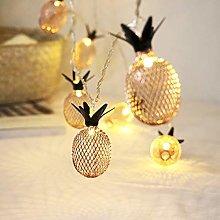 Meccion 3m 20 Led Gold Pineapple String Lights